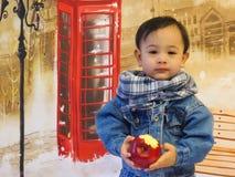 Portret van een babyjongen Stock Foto's