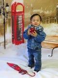 Portret van een babyjongen Stock Foto