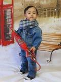 Portret van een babyjongen Royalty-vrije Stock Afbeelding