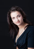 Portret van een beautifubrunette Stock Fotografie