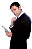 Portret van een bedrijfsmens Stock Foto's