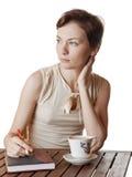 Portret van een bedrijfsvrouw. Royalty-vrije Stock Afbeelding
