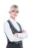 Portret van een bedrijfsvrouw stock foto