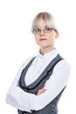 Portret van een bedrijfsvrouw stock afbeelding