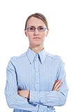 Portret van een bedrijfsvrouw royalty-vrije stock fotografie