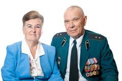 Portret van een bejaard paar royalty-vrije stock afbeelding