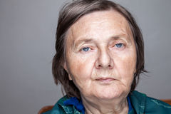 Portret van een bejaarde Royalty-vrije Stock Afbeelding