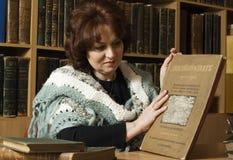 Portret van een bibliothecaris royalty-vrije stock foto
