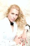 Portret van een blond meisje Stock Afbeeldingen