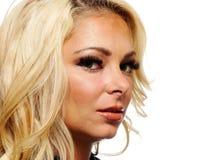 Portret van een blonde vrouw Royalty-vrije Stock Afbeelding
