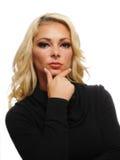 Portret van een blonde vrouw Royalty-vrije Stock Foto
