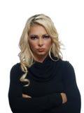 Portret van een blonde vrouw Stock Foto