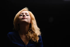 Portret van een blondemeisje Stock Foto's