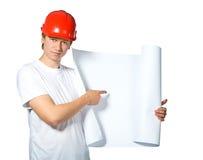 Portret van een bouwer stock foto
