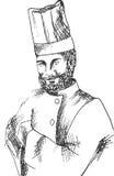 Portret van een chef-kok Stock Foto