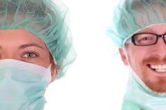 Portret van een chirurg stock foto