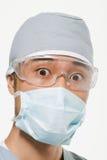Portret van een chirurg stock fotografie