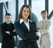 Portret van een commercieel team in een bureau Stock Foto