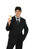 Portret van een contant geld van de bedrijfsmensenholding Stock Foto's