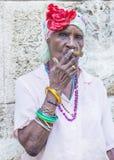 Portret van een Cubaanse vrouw Stock Foto