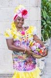 Portret van een Cubaanse vrouw Stock Fotografie