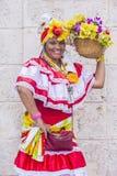Portret van een Cubaanse vrouw Stock Afbeeldingen