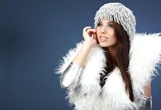 Portret van een de wintervrouw Stock Foto