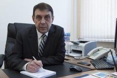 Portret van een directeur van het bejaardebureau royalty-vrije stock foto's