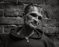 Portret van een donker mannetje. Stock Foto's