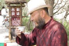 Portret van een drinkende mens Royalty-vrije Stock Afbeeldingen