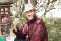 Portret van een drinkende mens Royalty-vrije Stock Foto
