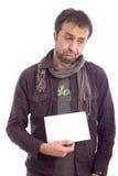 Portret van een droevige kijkende mens stock foto