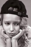 Portret van een droevige tiener Royalty-vrije Stock Foto's