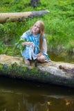 Portret van een dromend meisje Royalty-vrije Stock Afbeeldingen