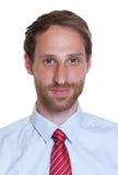 Portret van een Duitse zakenman met baard Royalty-vrije Stock Afbeeldingen