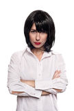 Portret van een flirtmeisje Royalty-vrije Stock Fotografie