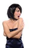 Portret van een flirtmeisje Royalty-vrije Stock Foto