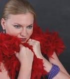 Portret van een geheimzinnige vrouw Royalty-vrije Stock Foto