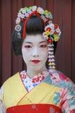 Portret van een Geisha Stock Foto's