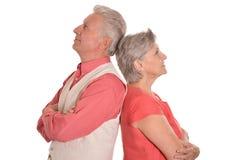 Portret van een gelukkig paar op middelbare leeftijd stock afbeeldingen