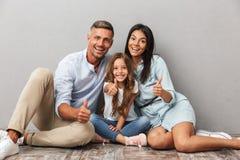 Portret van een gelukkige familie stock fotografie