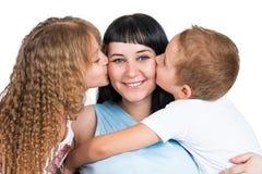 Portret van een gelukkige familie Stock Foto's