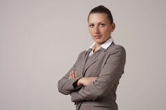 Portret van een gelukkige jonge bedrijfsvrouw Royalty-vrije Stock Fotografie