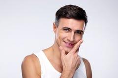 Portret van een Gelukkige Jonge Mens Stock Afbeelding