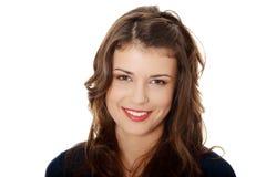 Portret van een gelukkige jonge tienervrouw royalty-vrije stock fotografie