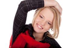Portret van een gelukkige jonge vrouw Royalty-vrije Stock Foto
