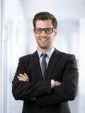 Portret van een gelukkige zakenman royalty-vrije stock afbeelding