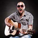 Portret van een gitarist royalty-vrije stock fotografie