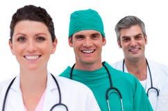 Portret van een glimlachend medisch team Royalty-vrije Stock Fotografie