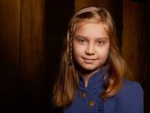Portret van een glimlachend meisje Royalty-vrije Stock Foto's